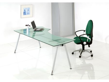luxury glass desk and chair design